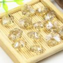Beads, Selenial Crystal, Crystal, Light Yellow AB, Flower shape, 14mm x 14mm x 7mm, 1 Bead, [ZZE0007]